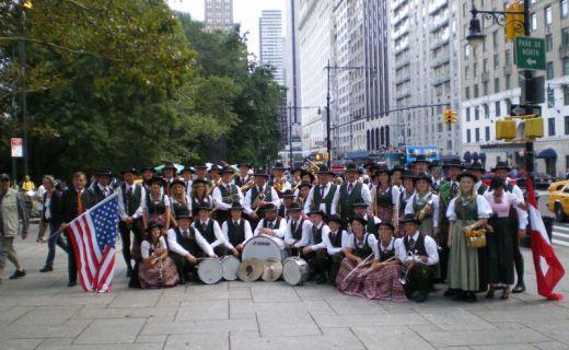 Gruppenfoto mitten in Manhattan